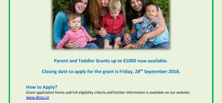 Parent & Toddler Group Initiative Grants 2018