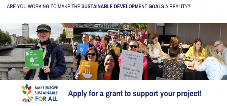 Small grant programme to support actions and initiatives on the Sustainable Development Goals in Ireland.